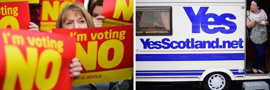 Unabhängigkeits-Referendum in Schottland Referendum in Schottland