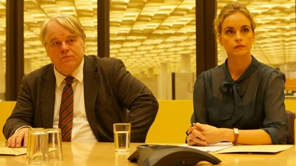 "Philip Seymour Hoffman und Nina Hoss in ""A Most Wanted Man""."