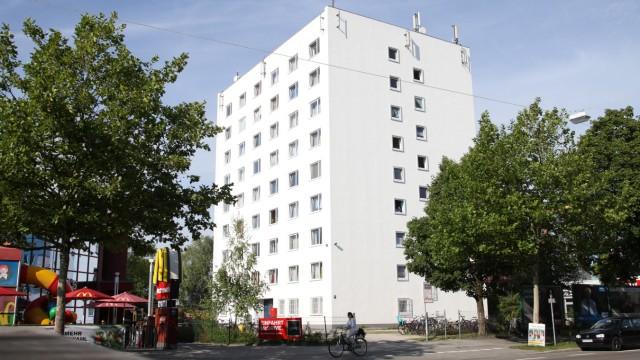 Asylbewerberunterkunft an der Landsbergerstraße in München, 2013