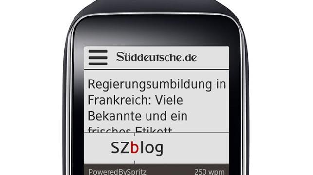 Spritz-App sz.de