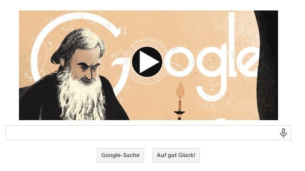 Leo Tolstoi, Google Doodle