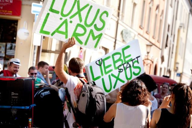 Demonstration gegen Luxussanierung in München, 2014