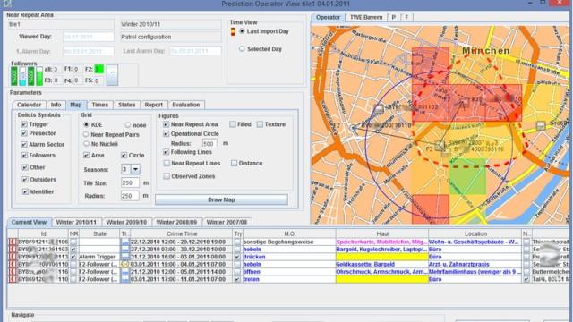 360° Predictive Policing Polizei-Software zur Vorhersage von Verbrechen