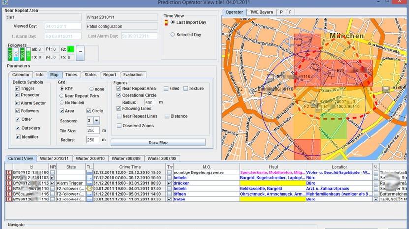Polizei München Polizei-Software zur Vorhersage von Verbrechen