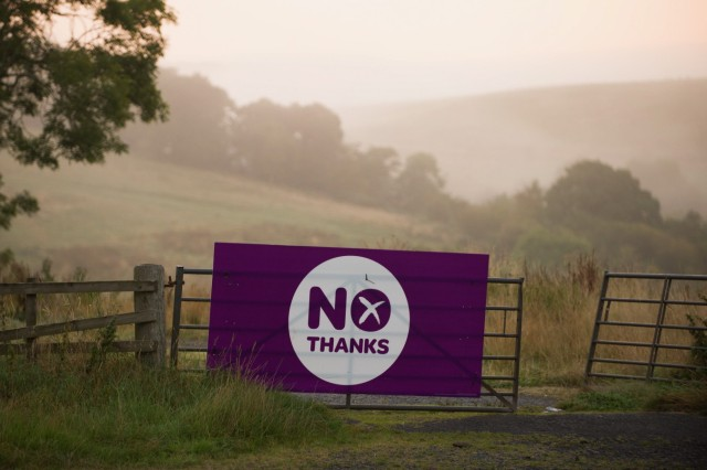 Independence Posters Seen Throughout Scotland
