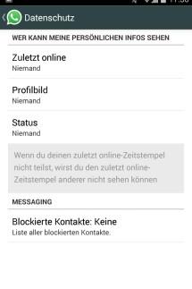 Screenshot Android-Gerät