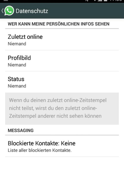 Screenshot Android-Gerät