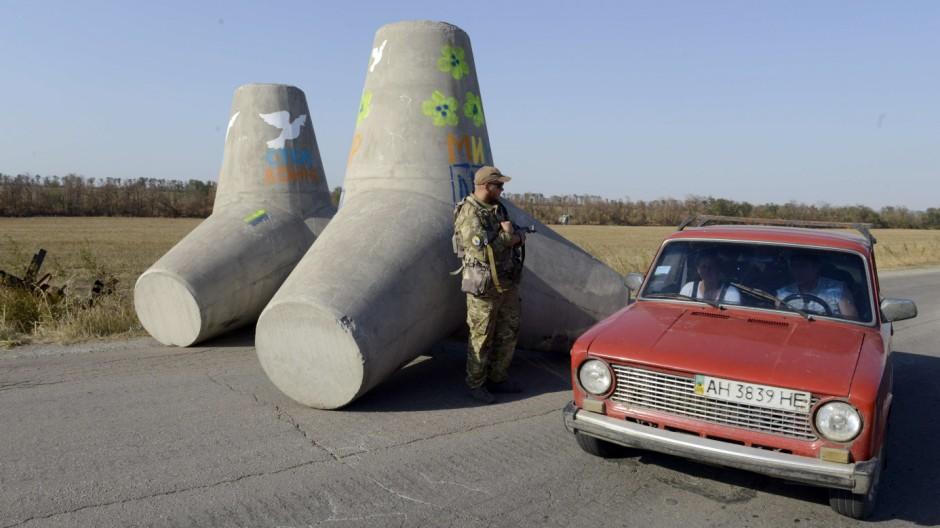 Krieg in der Ukraine Grenze zwischen Ukraine und Russland