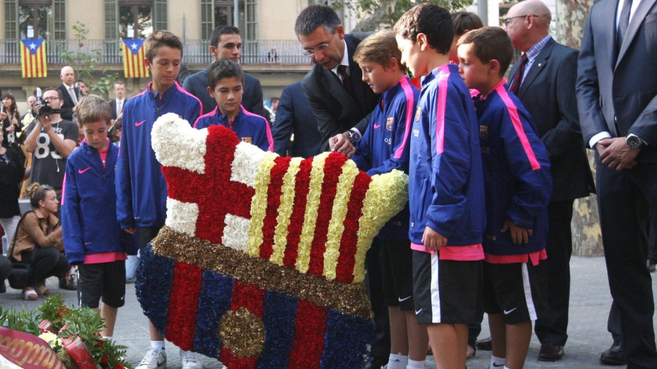 Katalonien Großdemo der Katalanen in Barcelona