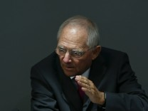 German Finance Minister Schaeuble addresses Bundestag in Berlin