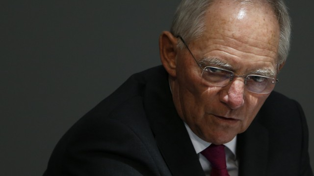 German Finance Minister Schaueble addresses Bundestag in Berlin