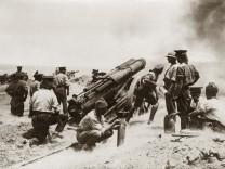 Britische Artillerie in Flandern, 1915