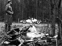 Der zertrümmerte Lotus-Cosworth von Jim Clark in Hockenheim 1968.