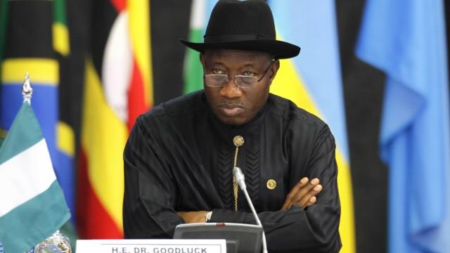 Nigerias Präsident Goodluck Jonathan bei einem Gipfeltreffen afrikanischer Staaten in Kenia.