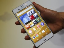 A Sony Experia Z3 smartphone is pictured at the IFA consumer technology fair in Berlin