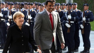 ***BESTPIX*** Emir Of Qatar Visits Germany