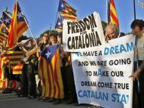 Protest für unabhängiges Katalonien