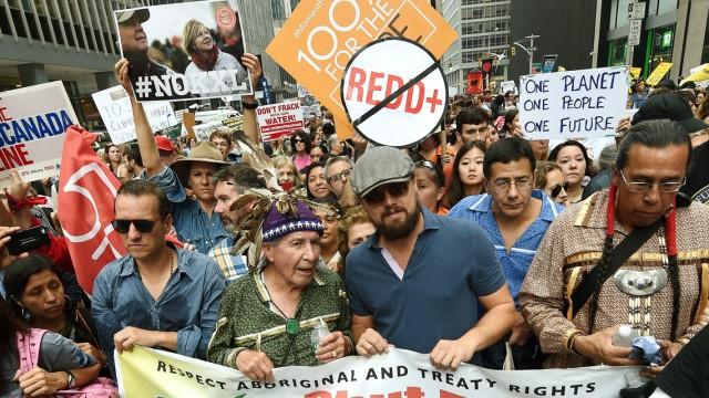 Klimakonferenz Rekordbeteiligung bei Protest in New York