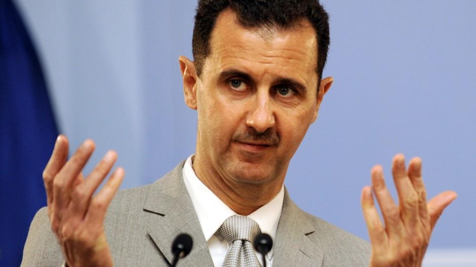 Aufstand in Syrien Syriens Machthaber Assad