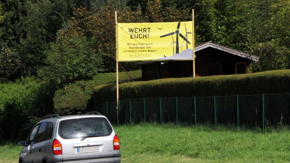 Anti-Windkraft-Plakat