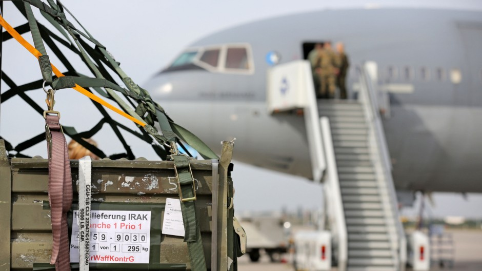 Erste deutsche Waffenlieferung in den Irak