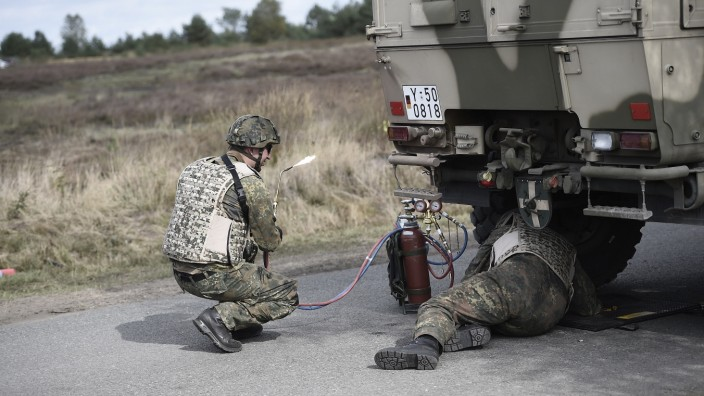 Bundeswehr Holds Annual Exercises At Munster