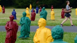 Goethe-Figuren auf dem Uni-Campus