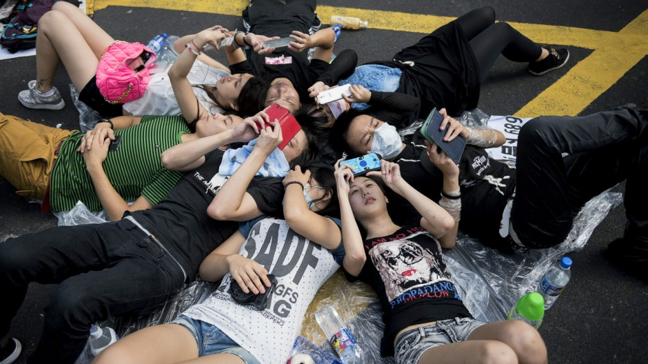 Proteste in Hongkong Demonstrationen für mehr Demokratie