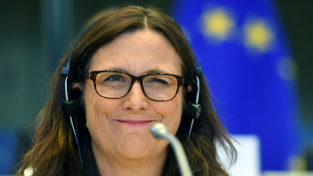 VW EU-Kommissarin Cecilia Malmström