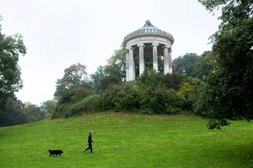Englischer Garten Monopteros Wird Restauriert München