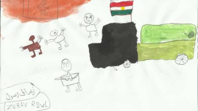 Flüchtlingslager Comiczeichner im Flüchtlingslager