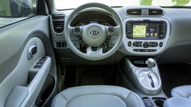 Der Innenraum des Kia Soul EV.