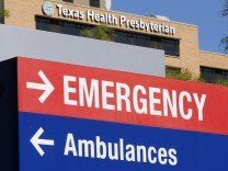 A general view of the Texas Health Presbyterian Hospital is seen in Dallas