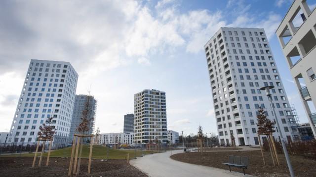 München, Thalkirchen, Solln, die neuen Hochhäuser der Südseite, Foto: Angelika Bardehle