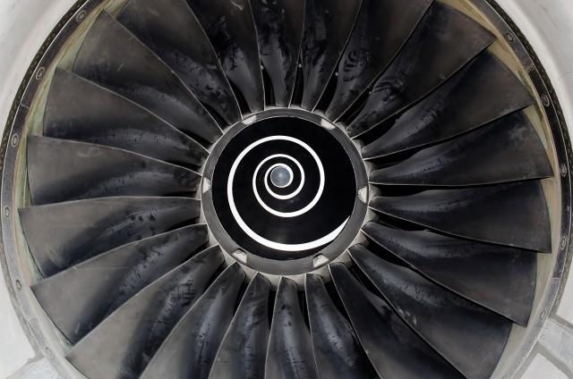Flugzeug-Turbine