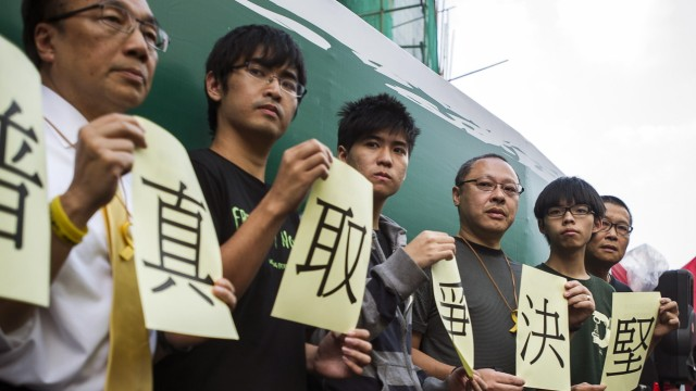 Proteste in Hongkong Studentenproteste in China
