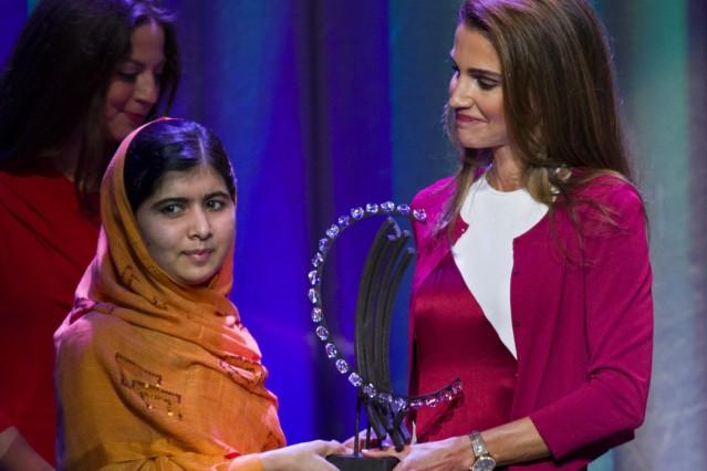 Malala Yousafzai, Queen Rania of Jordan