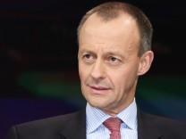 Friedrich Merz Vorsitzender des deutsch amerikanischen Netzwerks Atlantik Brücke in der ZDF Talksh