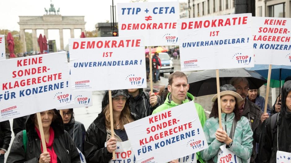 Aktionstag gegen die Freihandelsabkomen der EU