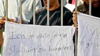 Flüchtlinge protestieren in Zirndorf