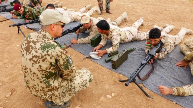 Bundeswehr bildet kurdische Peschmerga aus