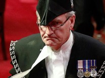 Sergeant-at-Arms Kevin Vickers is pictured in the Senate chamber on Parliament Hill in Ottawa