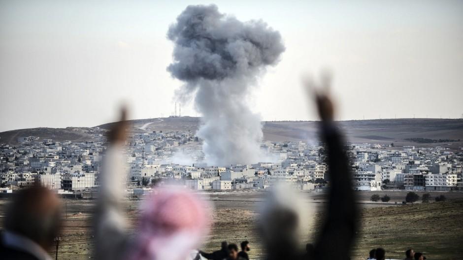 Islamischer Staat Umkämpfte Grenzstadt in Syrien