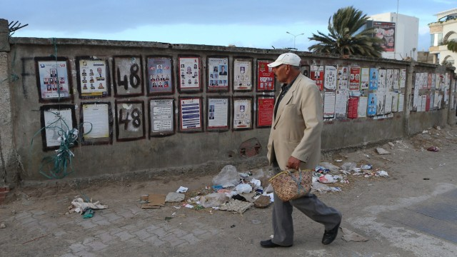 Election posters in Tunis