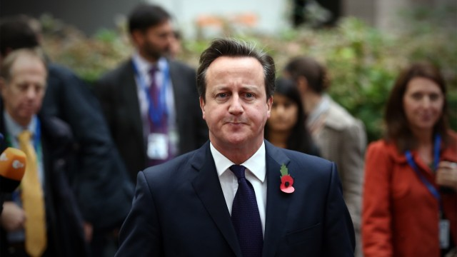BESTPIX Prime Minister David Cameron Tries To Take A Harder Line With Europe