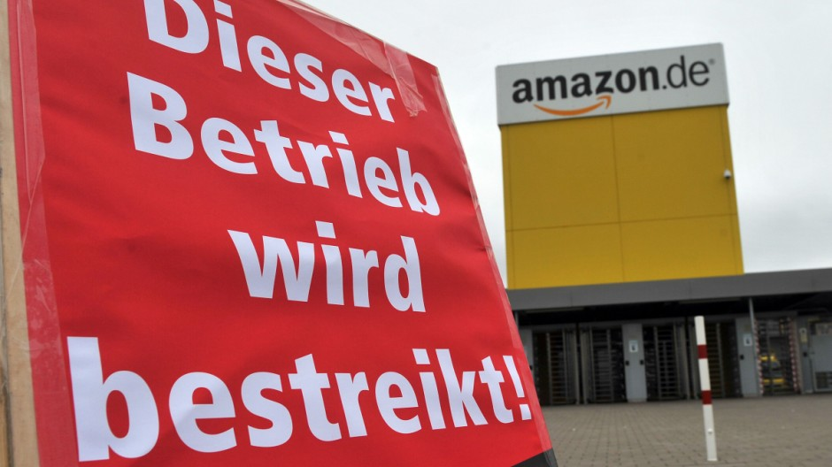 Streik Amazon Graben