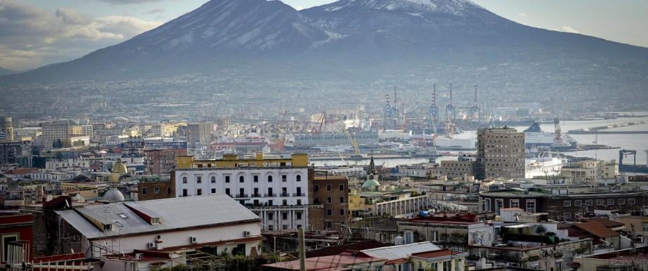 Snow on the Mount Vesuvius