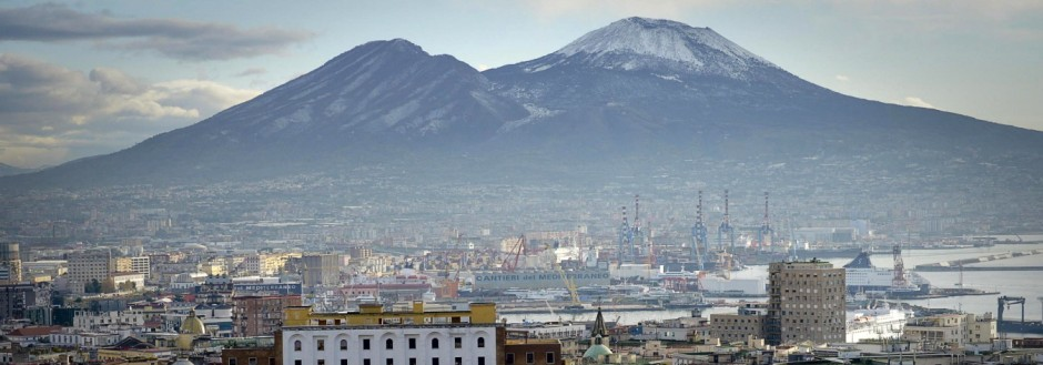 Snow on the Mount Vesuvius