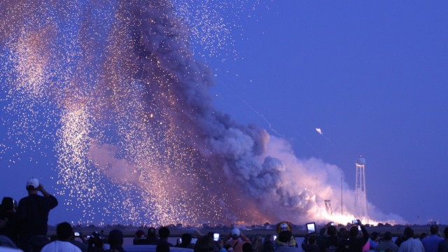 Orbital rocket explodes after launch