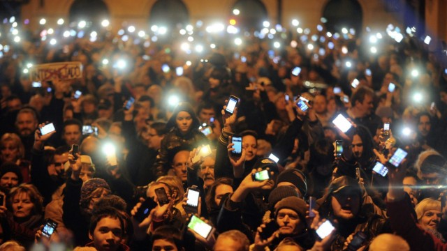 Protest against an internet tax
